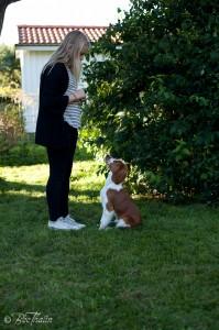 Ebba med Pralin, 4 månader gammal, (nr. 2) (foto: Bee Thalin)