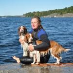 Jag älskar vatten och hundarna, jag tror att det syns